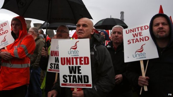 Grangemouth Workers Protest