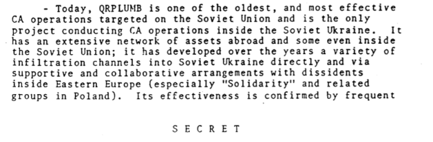 CIA files detailing a synopsis of QRPLUMB operations 1946-1987