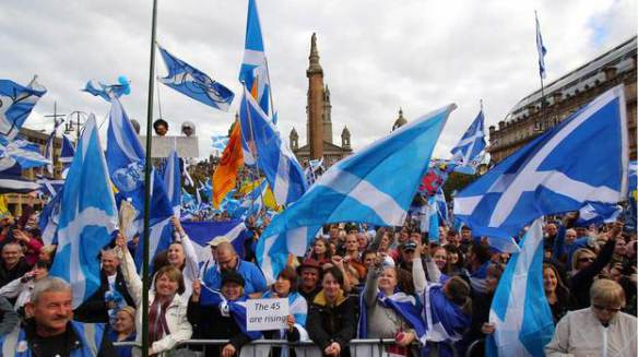 A left non-nationalist rally in Glasgow