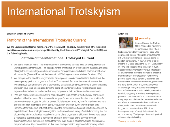 Picture of International trotskyism Blog