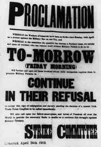 Limerick Strike Proclamation