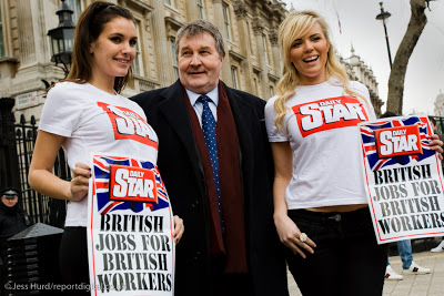 Image result for Derek Simpson Daily Star British Jobs for British Workers images