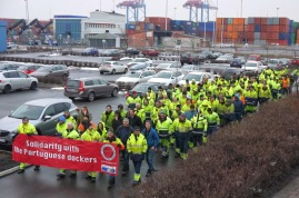 Image result for dock workers are striking in Gothenburg images