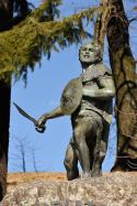 Viriato, a lusitanian warrior. Viseu, Portugal