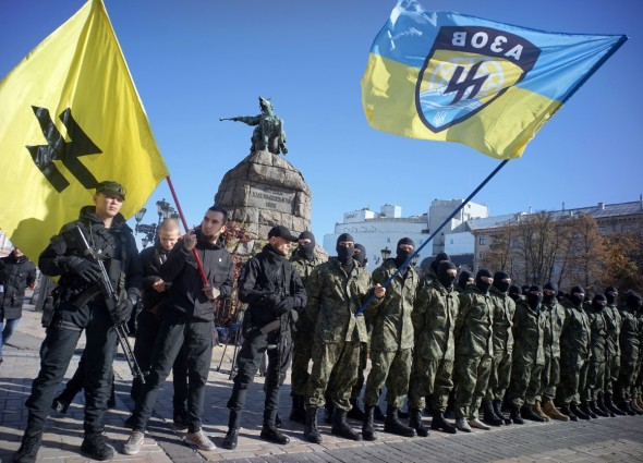 Image result for the Azov Battalion and the Right Sector images
